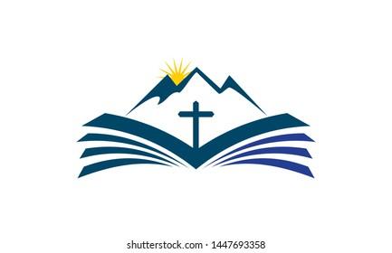 Church logo. Christian symbols. The Cross of Jesus