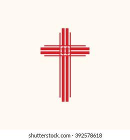 Church logo. Christian symbols. The Cross of Jesus Christ