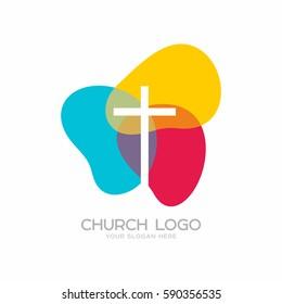 Church logo. Christian symbols. The Cross of Jesus Christ.