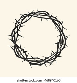 Church logo. Christian symbols. Crown of thorns.