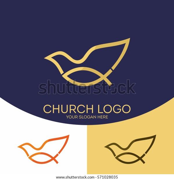 Kirchenlogo Christliche Symbole Fisch Jesus Symbol