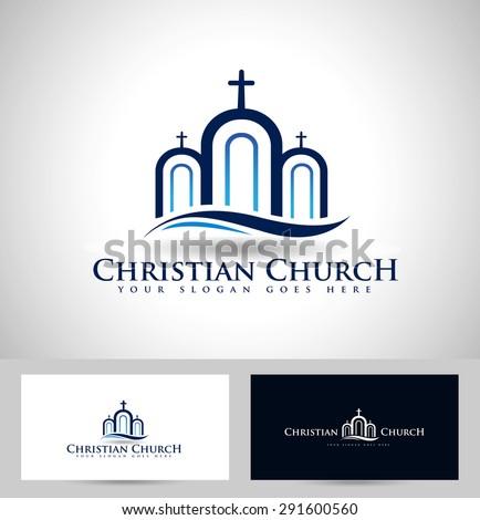 Church logo design creative church christian stock vector royalty creative church christian icon design and business card template flashek Gallery