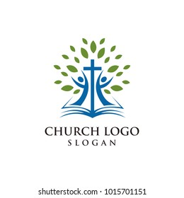 Church logo modern vector graphic abstract