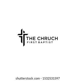 Church logo sign modern vector graphic abstract design