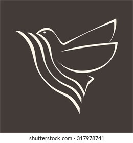 Church logo. Waves and dove