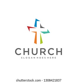 Church Minimalist Colorful Logo