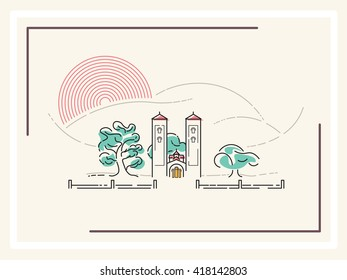 Church - minimalistic vector illustration