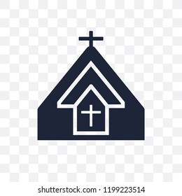 Church transparent icon. Church symbol design from Religion collection. Simple element vector illustration on transparent background.