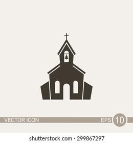 Church vector icon.