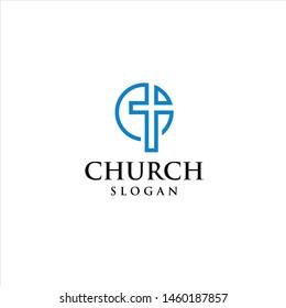 church vector symbol illustration graphic line art template download