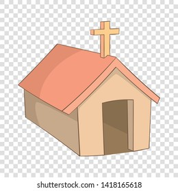 The church in the village of Indians, North Argentina icon. Cartoon illustration of the church in the village of Indians, North Argentina vector icon for web