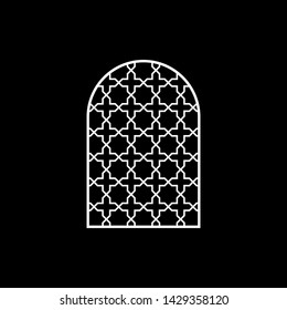 Church window mosaics, stained glass, Ornament decor.  Islamic pattern.Muslim