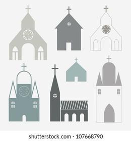 Churches vector