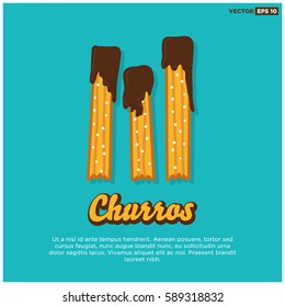 Churro Fried Dough Pastry Poster