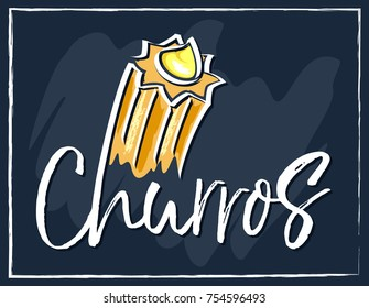 Churros sweet vector