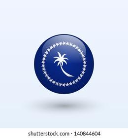 Chuuk round flag. Vector illustration.
