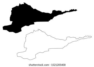 Chuy Region (Kyrgyz Republic, Kirghizia, Regions of Kyrgyzstan) map vector illustration, scribble sketch Chui map