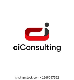 ci consulting abstract Logo Design Template