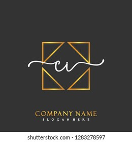 CI Initial Handwriting logo template vector