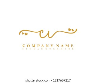 CI Initial handwriting logo vector