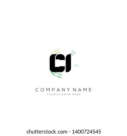 CI initial letter abstract logo design vector.