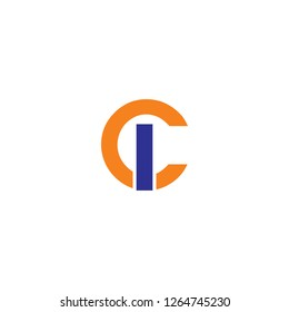 ci letter logo design template vector