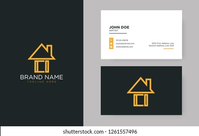 CI Letter Real Estate Logo Design - Real estate logo