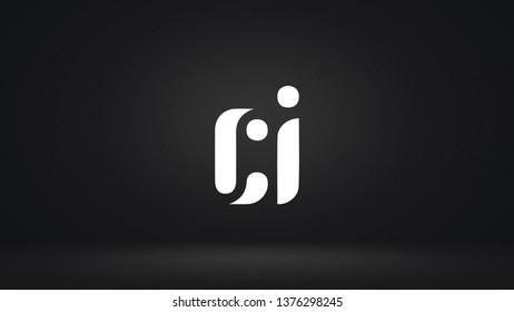 CI logo design template vector illustration
