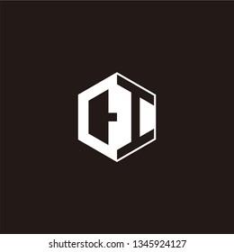 CI Logo Initial Monogram Negative Space Designs Templete
