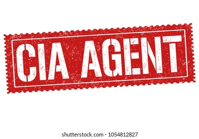 CIA agent grunge rubber stamp on white background, vector illustration
