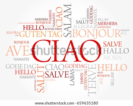 Ciao hello greeting italian word cloud stock vector royalty free ciao hello greeting in italian word cloud in different languages of the world m4hsunfo