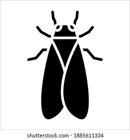 cicada icon. animal sign. vector illustration