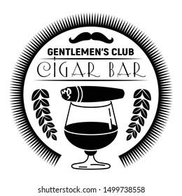 Cigar bar logo. Simple illustration of cigar bar vector logo for web design isolated on white background