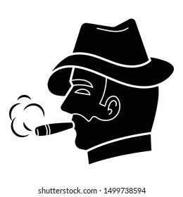 Cigar gentleman icon. Simple illustration of cigar gentleman vector icon for web design isolated on white background