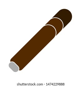 cigar icon. flat illustration of cigar vector icon. cigar sign symbol