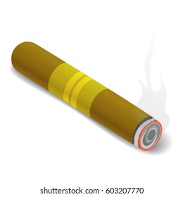 Cigar icon. Isometric 3d illustration of cigar vector icon for web