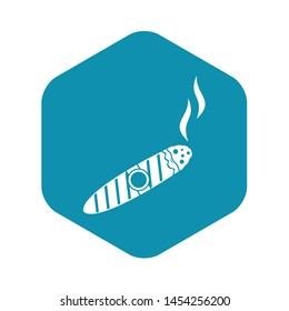 Cigar icon. Simple illustration of cigar vector icon for web