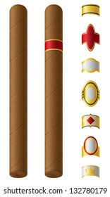 cigar labels for them vector illustration isolated on white background