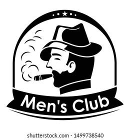Cigar men club logo. Simple illustration of cigar men club vector logo for web design isolated on white background
