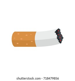 Cigarette butt icon. Flat illustration of Cigarette butt vector icon for web isolated on white background