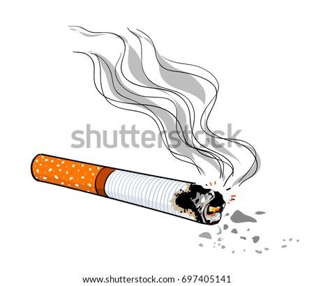 Cigarette Caricature cigarette cartoon hand drawn image original image vectorielle de