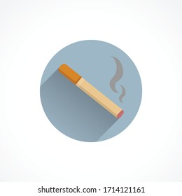 cigarette colorful flat icon with shadow. smoking icon