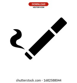 cigarette icon or logo isolated sign symbol vector illustration - high quality black style vector icons