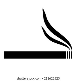 Cigarette icon on white background. Vector illustration.