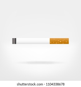cigarette illustration vector graphic - flat icon