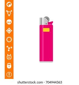 Cigarette lighter icon