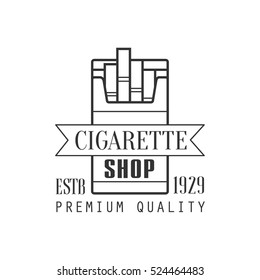 Cigarette Shop Premium Quality Smoking Club Monochrome Stamp For A Place To Smoke Vector Design Template