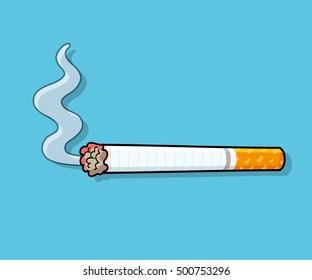 Cigarette with smoke icon.