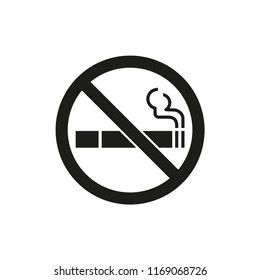 cigarette vector icon, no smoking sign in trendy flat design