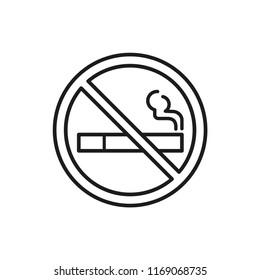cigarette vector icon, no smoking sign in trendy flat design